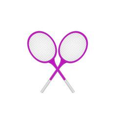 Crossed tennis rackets in retro design vector