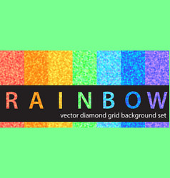 Diamond pattern set rainbow seamless geometric vector
