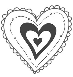 Hand drawn heart valentines day vector