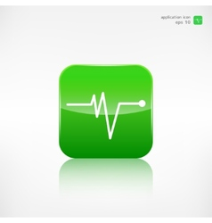 Heart beat cardiogramm Pulse icon vector image