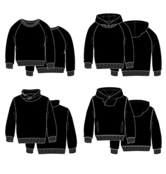 Hoodies black vector