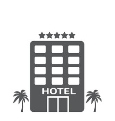 Hotel building gray vector