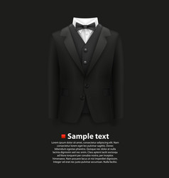 jacket over a black background vector image vector image