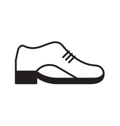 leather shoe icon vector image