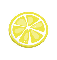 lemon slice cartoon vector image