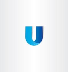 letter u icon logo design vector image