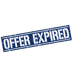 Offer expired square grunge stamp vector