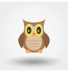 Owl stuffed toy vector