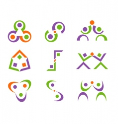 people logo designs vector image vector image