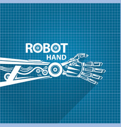 Robotic arm symbol on blueprint paper royalty free vector robotic arm symbol on blueprint paper vector image vector image malvernweather Image collections