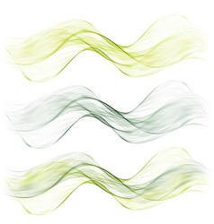 Set abstract color wave color smoke wave vector