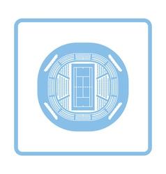 Tennis stadium aerial view icon vector