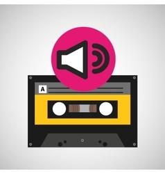 volume music cassette tape vector image