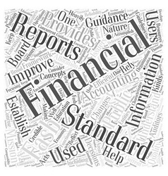 What is the FASB Word Cloud Concept vector image vector image