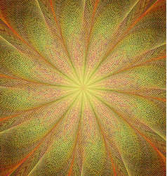 Yellow and orange twisted fractal art background vector