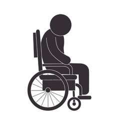 Handicapped wheelchair assistance vector