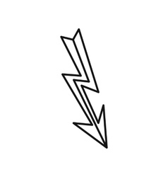Lightning icon in outline style vector