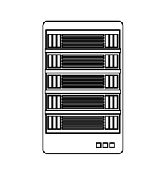 Figure web hosting related icons image vector