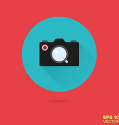 Camera flat design icon vector