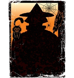 Halloween poster with jack and copy space vector