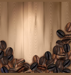 coffee beans realistic background vector image