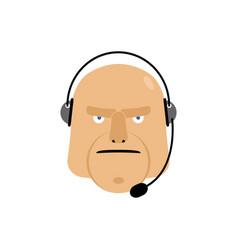 Call center icon manager customer service head vector