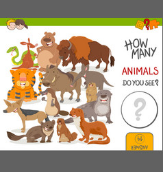 How many animals activity game vector