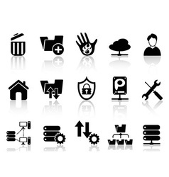 Ftp host icons vector