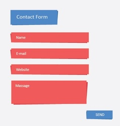 Contact Form 2 vector image