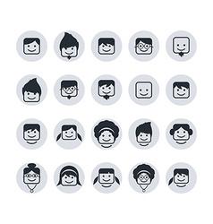 avatar portrait user icon set vector image