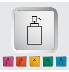 Tube icon vector