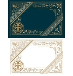Retro Frame Template Baroque Style vector image