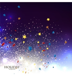 Abstract Christmas background with stars confetti vector image vector image