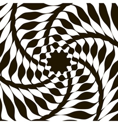 Abstract lines distortion effect geometric pattern vector