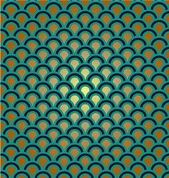 art decoration gold vintage wallpaper vector image