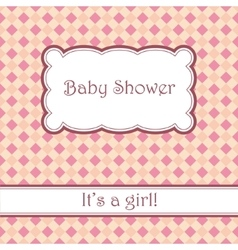 Background with plaid baby shower vector image vector image