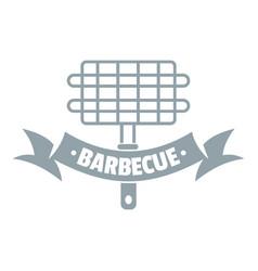 Barbecue picnic logo simple gray style vector