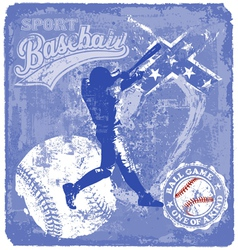 baseball batter vector image