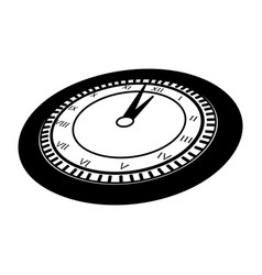 Black icon clock cartoon vector