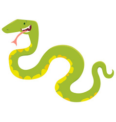 Cartoon snake animal character vector