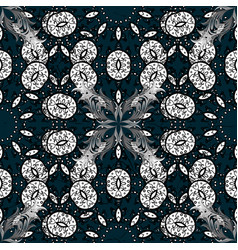 Christmas snowflake new year vintage pattern on vector
