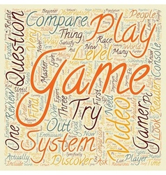 Compare video game system text background vector