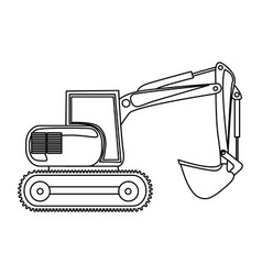 contour backhoe loader icon vector image vector image