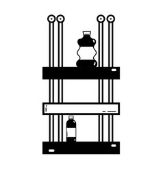 Contour shelf with bleach and detergent liquid vector