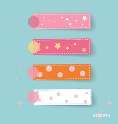 Cute note papers vector