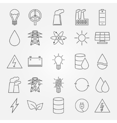 energy and industrial icon set vector image vector image