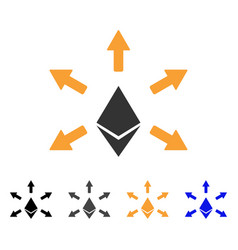 Ethereum emission icon vector