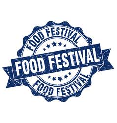 food festival stamp sign seal vector image