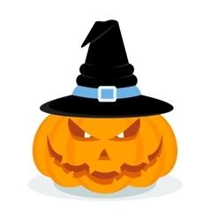 Halloween pumpkin with hat vector