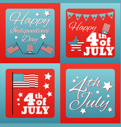 happy 4 th of july card united states of america vector image vector image